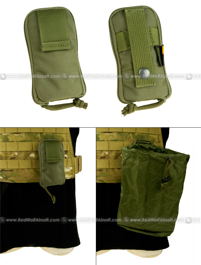 PANTAC Molle Stealth Drop Pouch Small (OD / Cordura)
