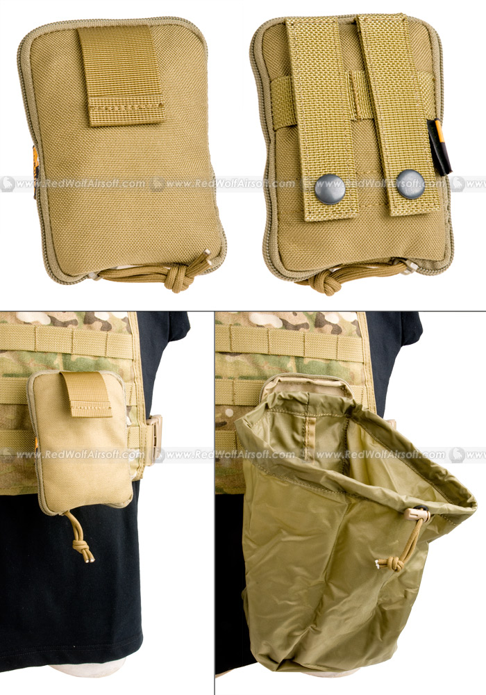 Pantac Molle Stealth Drop Pouch Medium (Khaki / Cordura)