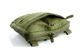 PANTAC Molle Spec Ops Flat Square Utility Pouch (OD / Cordura)