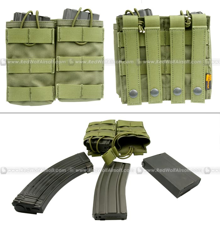 PANTAC Molle Dual Universal Mag Pouch (OD / Cordura)