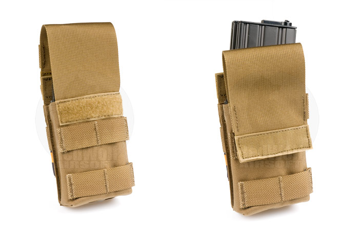 PANTAC Molle single M16 Mag Pouch with Solid Insert (CB / Cordura)