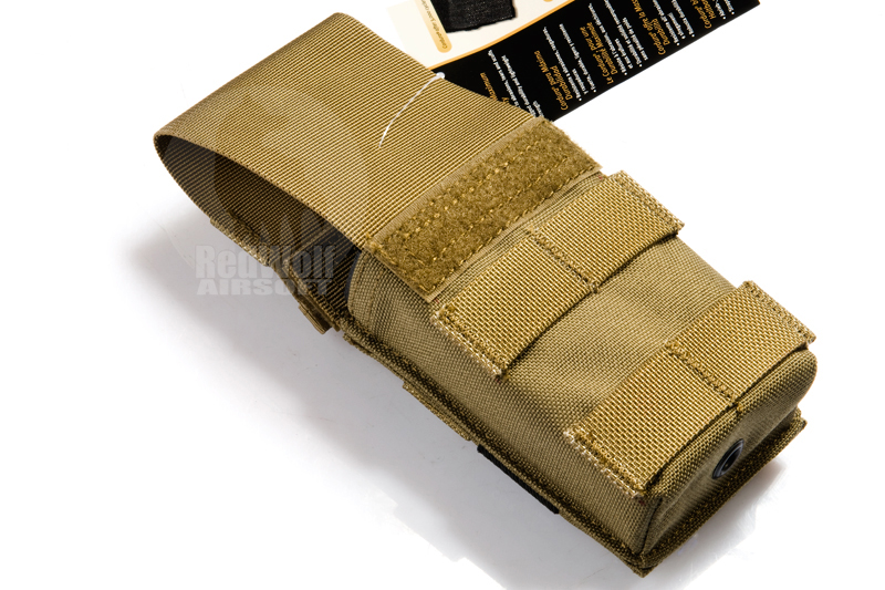 Pantac Molle Single M16 Pouch with Solid Insert (Cordura / Khaki)