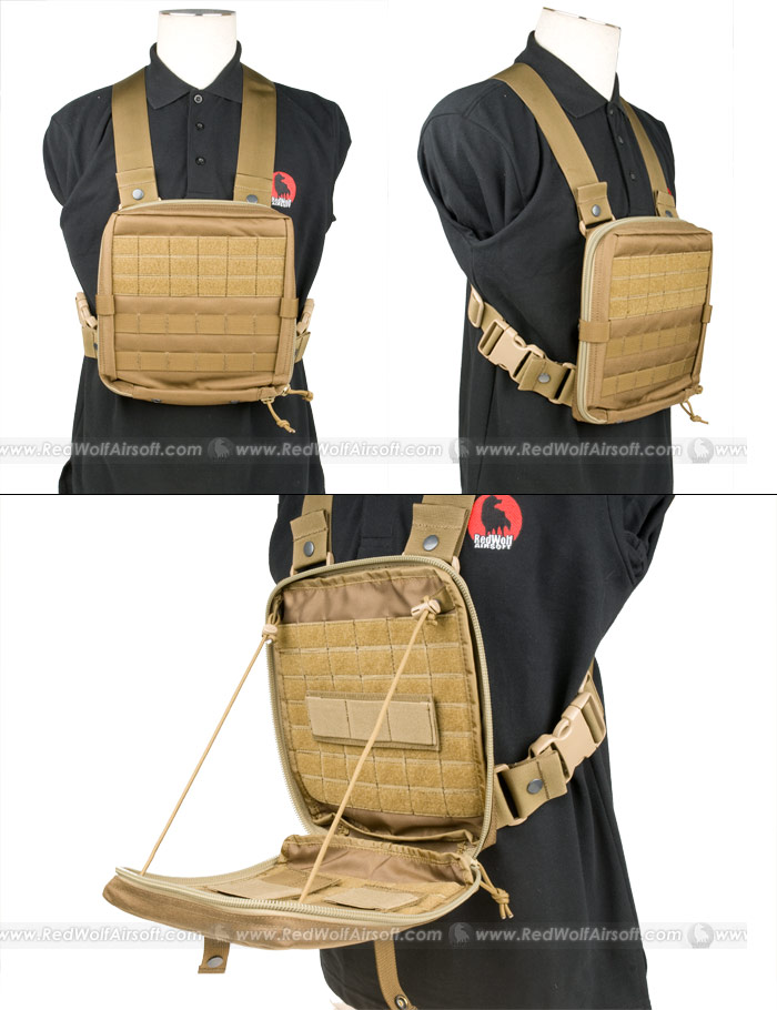 PANTAC Molle EV Universal Low-Profile Chest Rig (CB / Cordura)