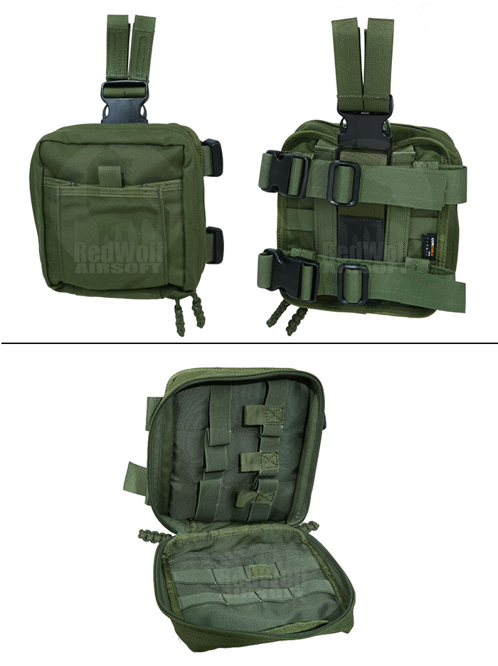PANTAC Molle Spec Ops Dropleg Medic Pouch (OD / Cordura)