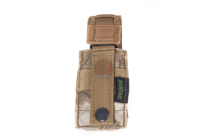 PANTAC Molle 9mm Single Mag Pouch With Hard Insert (A-TACS / Cordura)