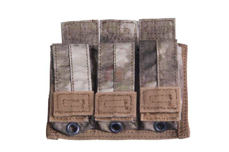PANTAC Malice EV 9mm Triple Mag Pouch (A-TACS / Cordura) <font color=yellow>(Clearance)</font>