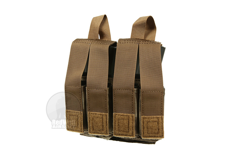 PANTAC Molle M16 Double Mag & 9mm 4-Mag Pouch With Hard Insert (A-TACS / Cordura) <font color=yellow>(Clearance)</font>