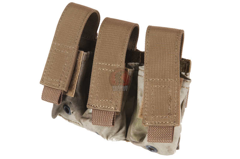 PANTAC Molle EV AF 9MM Triple Mag Pouch (A-TACS / Cordura) <font color=red>(HOLIDAY SALE)</font>