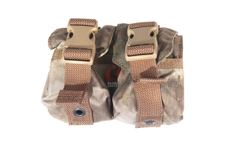 PANTAC Molle Dual Fragment Grenade Pouch (A-TACS / Cordura)