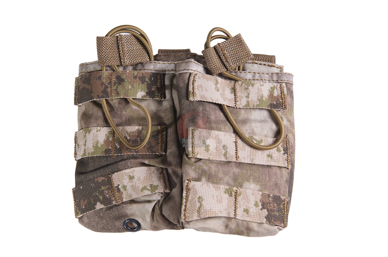PANTAC Molle Dual Universal Mag Pouch (A-TACS / Cordura) - Deluxe Version