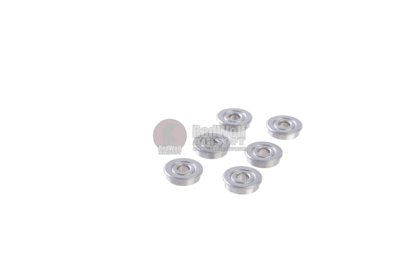 Prometheus 8mm Sintered Alloy Metal Bushings (6pcs) (Diameter 8mm X Height 2.5mm)-excluded for Tokyo Marui