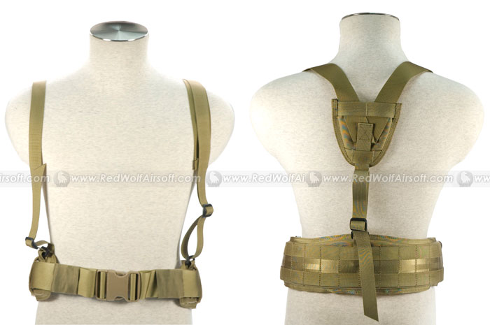 PANTAC Belt with Brace (Khaki / Medium / Cordura)