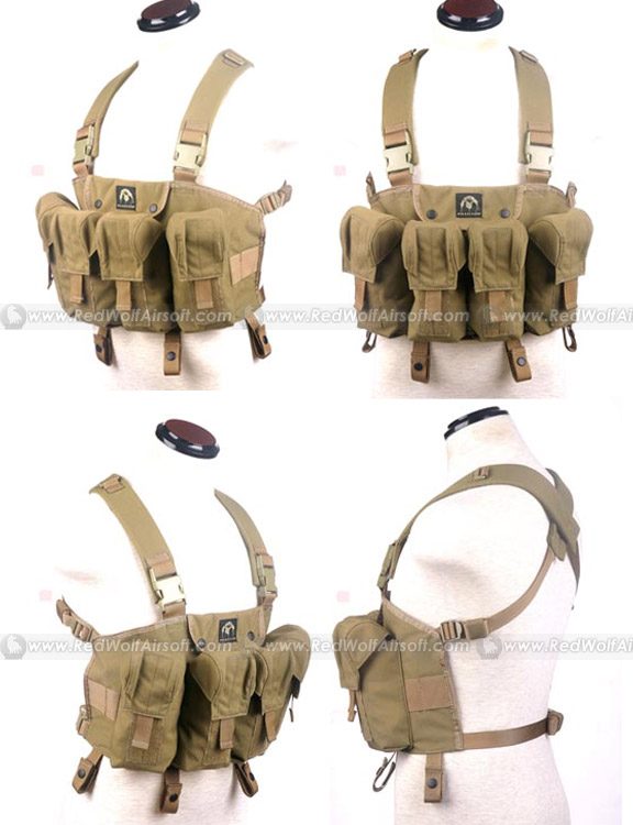PANTAC LBT AK Tactical Chest Vest (Khaki / CORDURA)