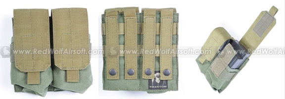 PANTAC Double M14 Magazine Pouch (OD / CORDURA) <font color='red'>(Blowout Sale)</font>