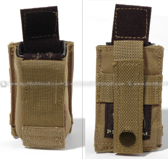 PANTAC Molle 9mm Magazine Single Pouch (Khaki / CORDURA)