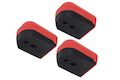 PTS Enhanced Pistol Shockplate for Tokyo Marui Hi-Capa 5.1 Series (3pack) - Red