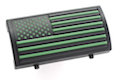 Custom Gun Rails (CGR) Aluminum Rail Cover (PVC American Flag / Green / Stars Left)