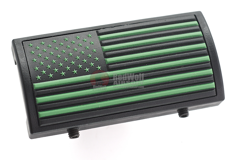Custom Gun Rails (CGR) Aluminum Rail Cover (PVC American Flag / Green / Stars Left) <font color=yellow>(Clearance)</font>