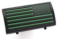 Custom Gun Rails (CGR) Aluminum Rail Cover (PVC American Flag / Green / Stars Right)