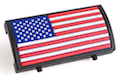 Custom Gun Rails (CGR) Aluminum Rail Cover (PVC American Flag / RWB / Stars Left) <font color=yellow>(Clearance)</font>