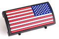 Custom Gun Rails (CGR) Aluminum Rail Cover (PVC American Flag / RWB / Stars Right)