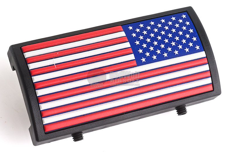 Custom Gun Rails (CGR) Aluminum Rail Cover (PVC American Flag / RWB / Stars Right) <font color=yellow>(Clearance)</font>