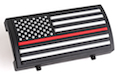 Custom Gun Rails (CGR) Aluminum Rail Cover (PVC American Flag / Red Line / Stars Left)