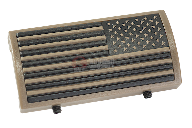 Custom Gun Rails (CGR) Aluminum Rail Cover (PVC American Flag / TAN / Stars Right) <font color=yellow>(Clearance)</font>