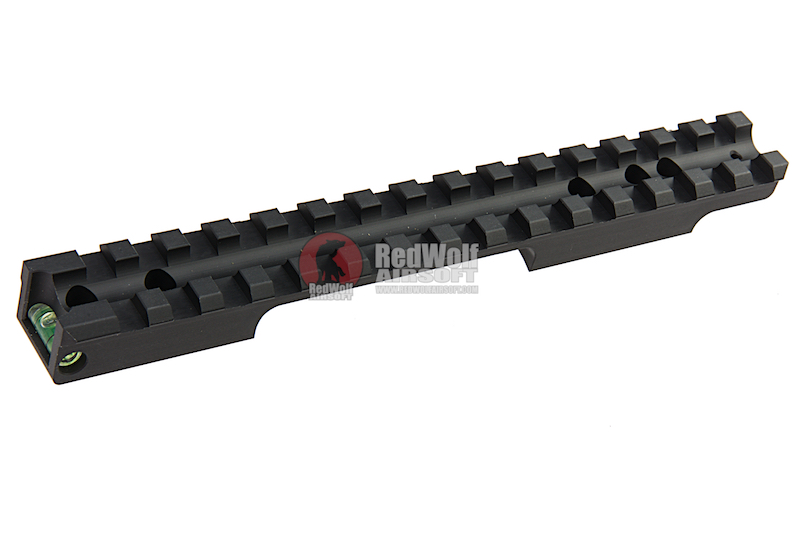 Maple Leaf CNC Scope Rail with Green Bubble Level for Tokyo Marui VSR-10 / DT-M40