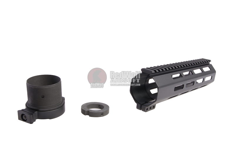 RGW M4 QD Takedown System MLOK Handguard for WE /VFC M4/ AR15 GBBR - Black (9 inch)