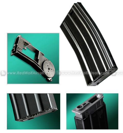 Real Sword 300rds Magazine for M4 / M16 / Type 97 (Stamped Steel)<font color=red> (Clearance)</font>