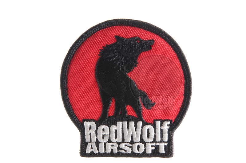 Redwolf Logo Velcro Patch (Red & Black)