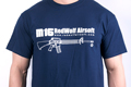 RedWolf Airsoft High Quality T-shirts Classic Rifle series - M-16 (Size: Large)