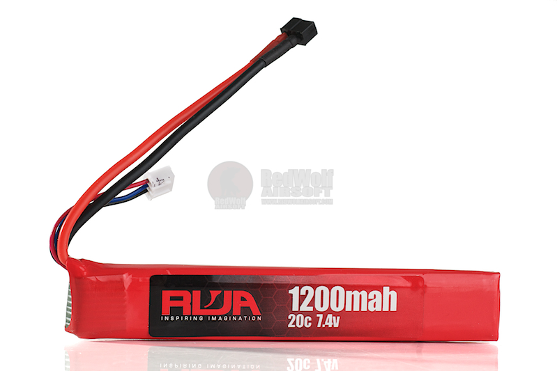 RWA 7.4V 1200mAh (20C) LiPo Rechargeable Battery (Mini Deans)