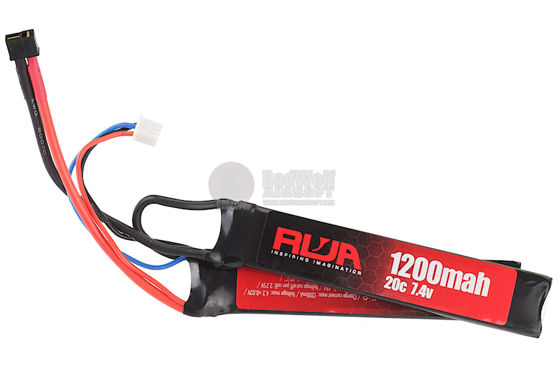 RWA 7.4V 1200mAh (20C) LiPo Rechargeable Twin Pack 2 Cells Battery (Mini Deans)