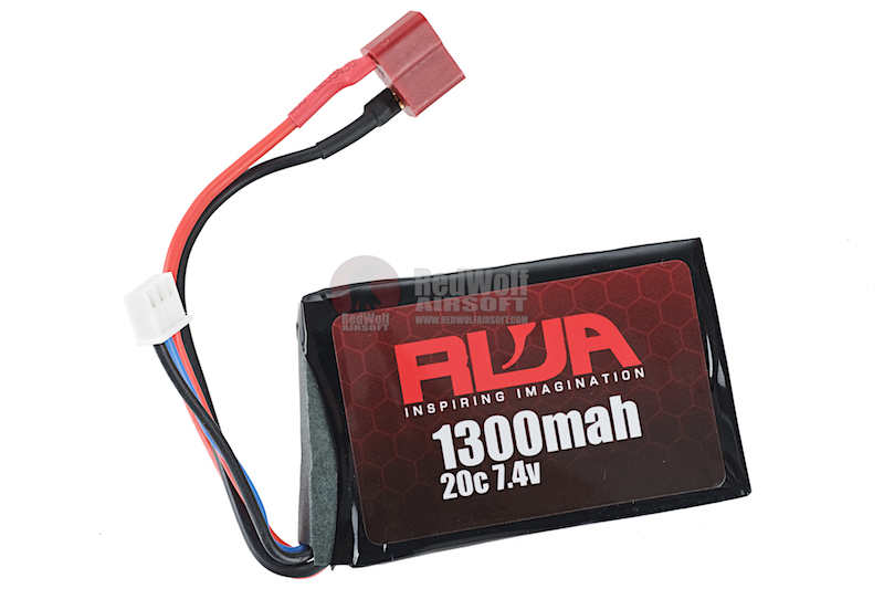 RWA 7.4V 1300mAh (20C) PEQ LiPo Rechargeable Battery (Deans)