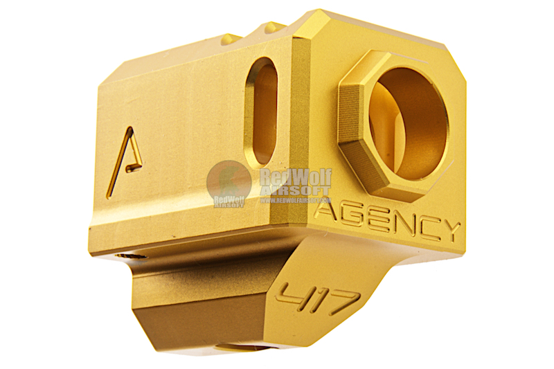 RWA Agency Arms 417 Compensator (14mm CCW) - Gold
