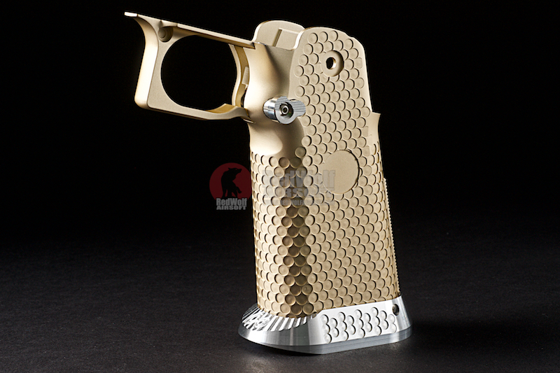 Airsoft Surgeon RWA Infinity CNC Aluminum Standard Logo Recess Grip Set - Champagne Gold