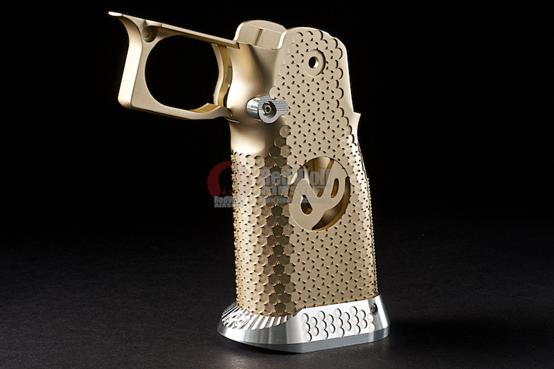 Airsoft Surgeon RWA Infinity CNC Aluminum Aggressive Mobius Grip Set - Champagne Gold