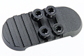 RWC Alpha Parts Motor Grip with CNC Grip End Plate for Systema PTW M4 Series - Cerakote Ridgeway Blue
