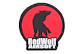 Redwolf Logo Velcro PVC Patch (Red)