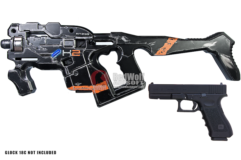 (PRE-ORDER) AVATAR HORNET M25 Black Obsidian Kit w/ Stock (Mass Effect) with Umarex Glock 17 Gen 3 GBB - Complete Paint Set