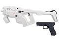AVATAR HORNET M25 White Cerberus Kit w/ Stock (Mass Effect) with Umarex Glock 17 Gen 3 GBB - Complete Set