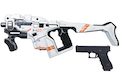 (PRE-ORDER) AVATAR HORNET M25 White Cerberus Kit w/ Stock (Mass Effect) with Umarex Glock 17 Gen 3 GBB - Complete Paint Set