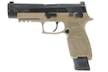 RWC SIG AIR P320 M17 6mm GBB Pistol (Cerakote Black Slide + Magpul FDE Frame) w/ Stippling Type A