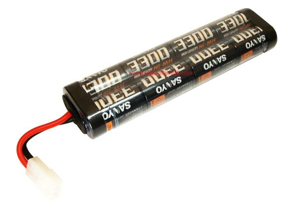Sanyo 9.6v 3300mah Battery (NiMH) - Large Type <font color=red>(Clearance)</font>