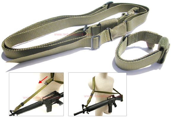 MilSpex Three Point Tactical Sling - Olive Drab