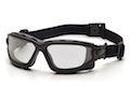 Pyramex I-Force Slim Safety Goggle Clear Dual Anti-Fog Lens with Black Temples/Strap