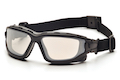 Pyramex I-Force Slim Safety Goggle Indoor/Outdoor Mirror Dual Anti-Fog Lens with Black Temples/Strap
