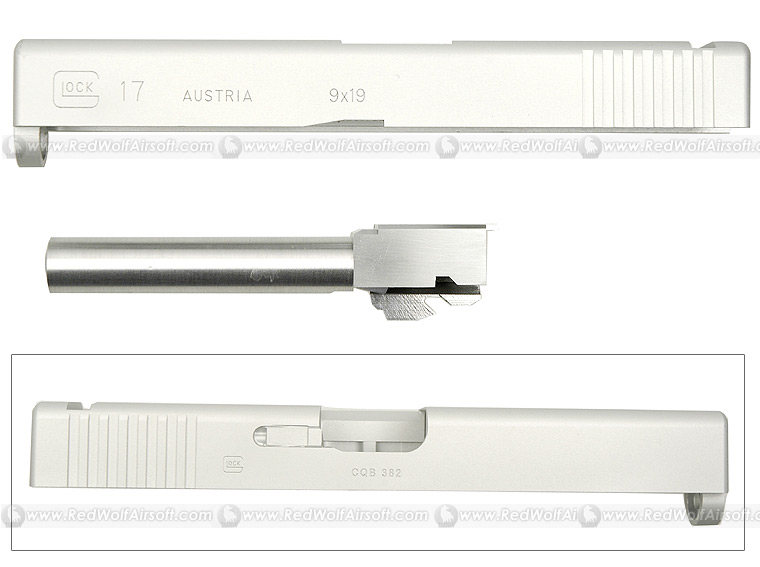 Shooters Design Silver Metal Slide For Marui G17
